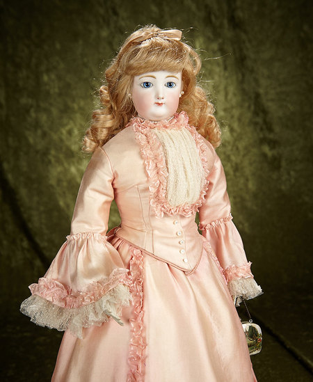 """22"""" Beautiful French bisque poupee by Gaultier in grand size with lovely complexion. $2100/2600"""