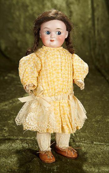 "11"" German bisque googly ""Demalcol"" in nice antique costume. $500/700"