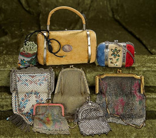 Collection of eight vintage beaded, mesh or velvet purses. $400/600