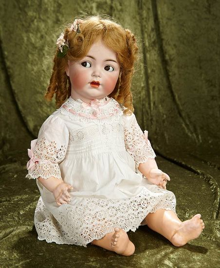 "25"" German bisque toddler with flirty eyes, 1294, by Simon and Halbig. $600/800"