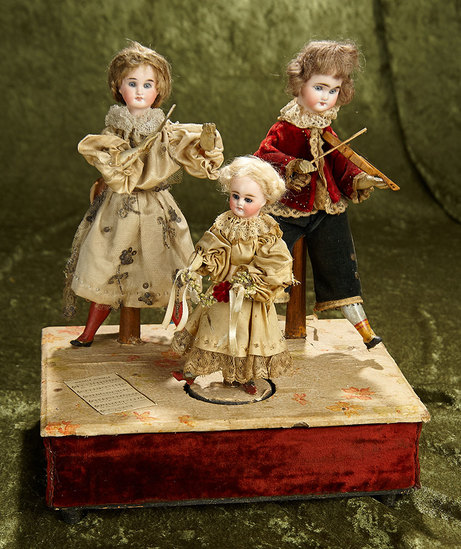 "German musical mechanical toy ""Parlor Musicale"" by Zinner and Sohne. $800/900"
