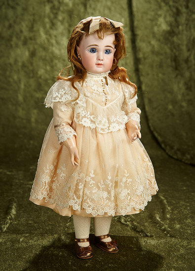 """16"""" French bisque Bebe Steiner, Figure A. size 10, with original signed Steiner Body. $2400/2800"""