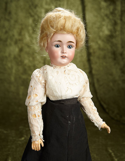 """17"""" German bisque lady doll, model 162, by Kestner with original lady body. $800/1200"""