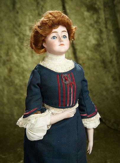 "20"" German bisque ""Gibson Girl"", model 172, by Kestner with original body. $1200/1400"