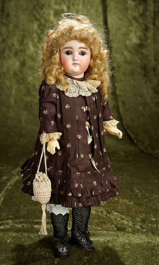 """15"""" German bisque closed mouth child doll by Kestner with original body. $800/1000"""