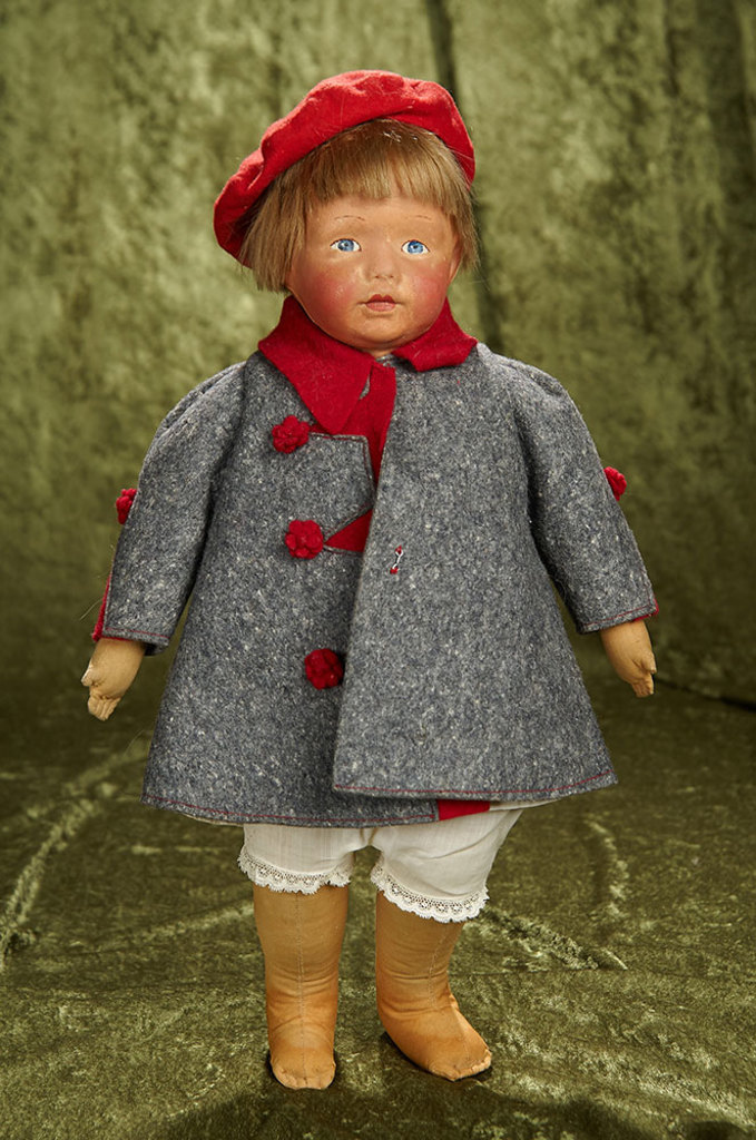 "18"" American cloth doll ""Kamkins"" by Louise Kampes. $800/1000"