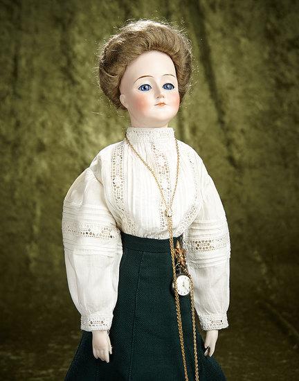 "20"" German bisque ""Gibson Girl"", model 172, by Kestner with original body. $1500/1800"