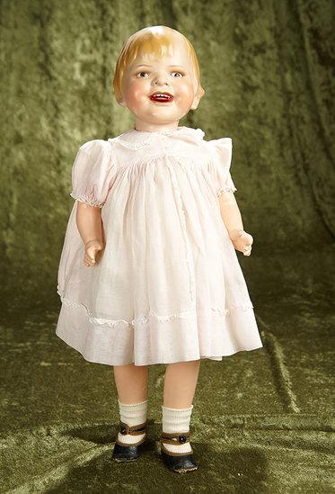 """20"""" German Art Character Doll """"Gladdie"""" designed by Helen Jensen. $800/1000"""