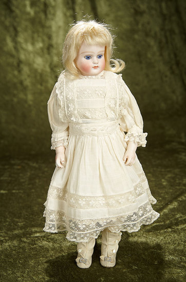 """14"""" German bisque closed mouth doll, 639, by Alt, Beck and Gottschalk. $500/700"""