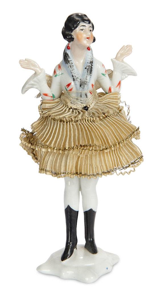 "German Porcelain Half-Doll ""Lady in Black Boots"" 200/400"