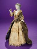 German Porcelain Half-Doll With Original Costume and Bon-Bon Box 400/500