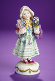 German Porcelain Child with Two Pots of Dresden Flowers 300/400