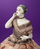 Porcelain Half-Doll as Art Deco Flapper with Candy Box Base 200/400