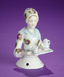 German Porcelain Half-Doll Known as Baker's Cocoa Lady by Goebel 200/400