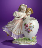 German Porcelain Candy Container
