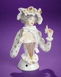 German Porcelain Half-Doll with Rare Style of Decoration 300/400