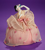 German Porcelain Half-Doll with Original Pincushion Base 100/200