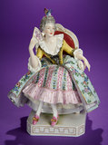 German Porcelain 18th Century Lady Posed Seated in Chair with Maker's Mark 300/500