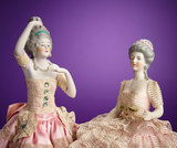 German Bisque Half-Doll Depicting 18th-Century Lady 200/400