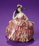 German Porcelain Half-Doll with Extravagant Party Bonnet 200/300