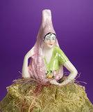 German Porcelain Half-Doll as Spanish Lady Candy Box 200/300