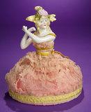 German Porcelain Half-Doll with Fantastical Coiffe 200/300