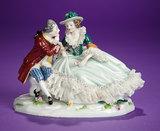 German Porcelain Miniature Vignette