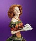 German Bisque Half-Doll