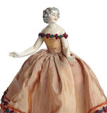 German Porcelain Half-Doll with Extended Arms 200/300