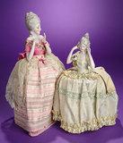 German Porcelain Half- Doll with Elaborate Beehive Coiffure 200/300