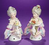 Two German Porcelain Half-Dolls