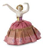 German Porcelain Half-Doll in Flowing Dance Pose 200/300