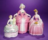 Three German Porcelain Ladies as Boudoir Jars 300/500