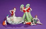 German Miniature Porcelain Bathing Beauties 150/250