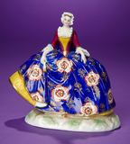 Early German Porcelain Lady with Splendid 18th Century Costume 200/300