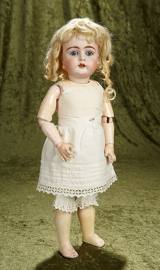 "19"" German bisque child doll, rare model 343, by Bahr and Proschild with pristine body$800/1100"