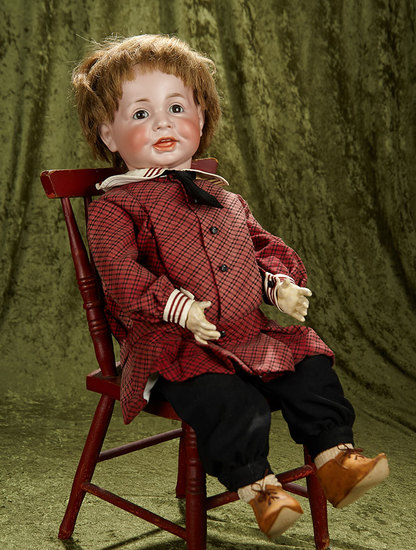 "24"" German bisque character, 116/A in rare size, toddler body. $1400/1800"
