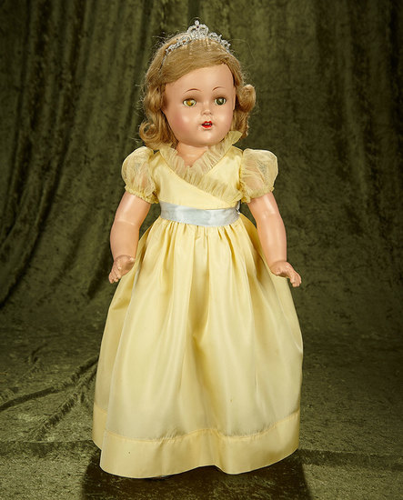"""23"""" Composition """"Princess Elizabeth"""" by Alexander in rare size, original tagged costume. $600/800"""