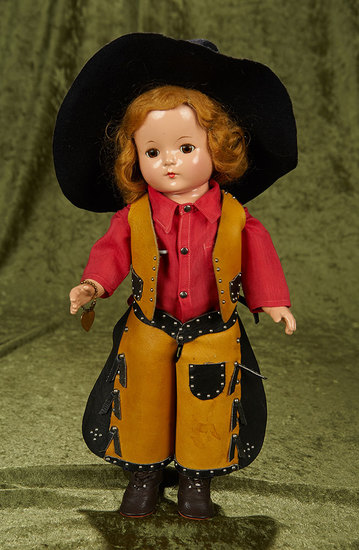 """15""""  Composition """"Patricia"""" by Effanbee as cowgirl. $200/300"""