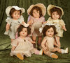 "16"" Set of five American composition ""Dionne Quintuplets"" by Alexander. $400/600"