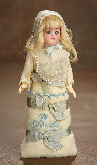"German Bisque Miniature Doll in Original ""Bebe"" Costume by Simon & Halbig 300/500"