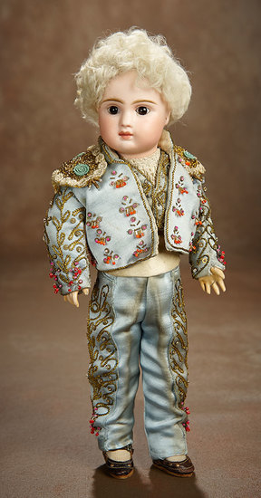Petite French Bisque Bebe Steiner, Figure A, in Wonderful Spanish Costume 2500/3200