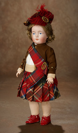 Rare German Bisque Painted Eye Character, Model 217, by Catterfelder Puppenfabrick 2500/3500