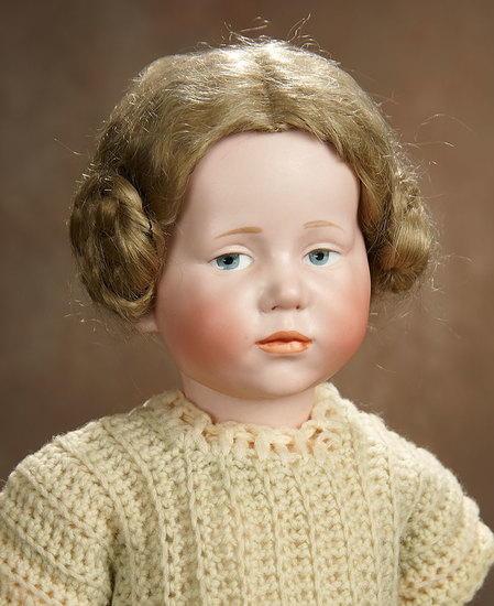"""German Bisque Art Character Doll, """"Marie"""", Model 101, by Kammer and Reinhardt 1200/1600"""