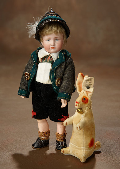 """All-Original German Bisque Pouting Character, """"Hans"""", model 114, Kammer and Reinhardt 800/1200"""