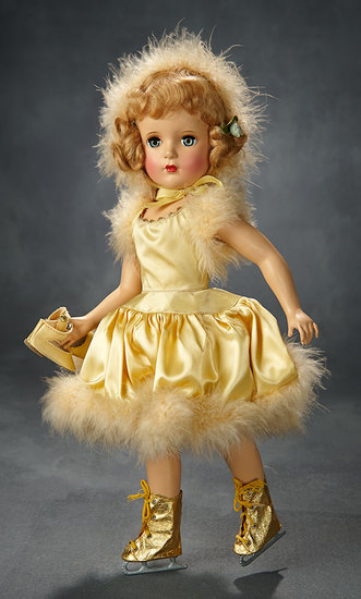 "Blonde ""Babs Skating"" in Yellow Costume, Original Box, 1951 600/800"