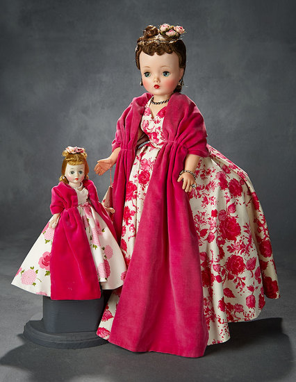 Cissette in Pink Camellia Gown with Velvet Stole, 1958 400/600