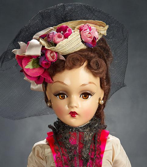 "Very Rare and Pristine American Composition Portrait Doll ""Renoir"", 1946 8000/10,000"