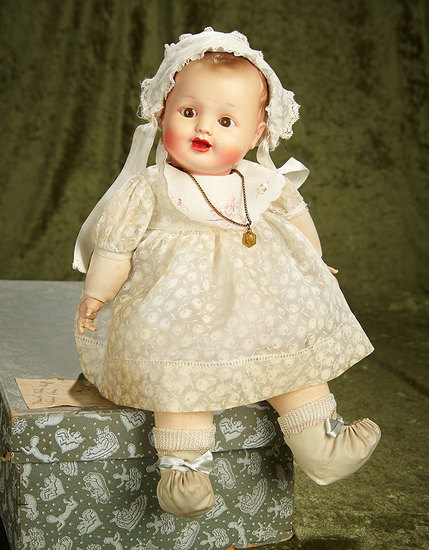 "14"" French character doll by Raynal in original costume and original box. $200/300"