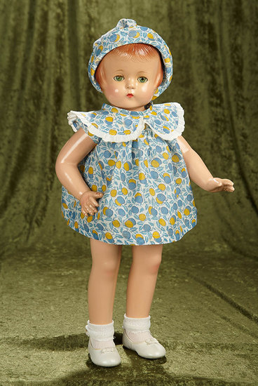 "22"" American composition ""Patsy Lou"", Effanbee, sleep eyes, wonderful original costume. $500/700"